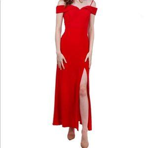 Morgan & Co off the shoulder dress